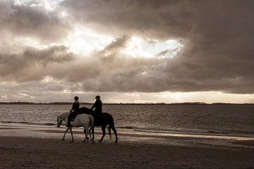 Paardenrit op het strand van Amanda van den Berg / Fotografie Amanda