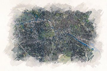 Karte von Berlin und Umland von Aquarel Creative Design