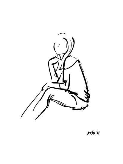 Inkt tekening van Kris Stuurop