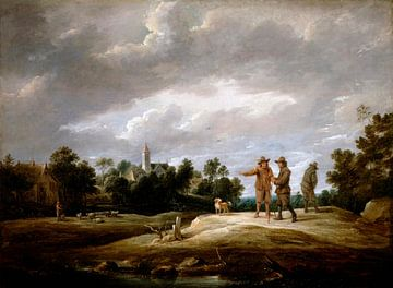 Des paysans en conversation, David Teniers II