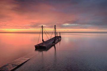 Gerüstbau IJsselmeer von John Leeninga