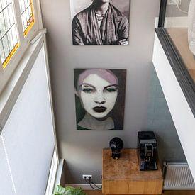 Klantfoto: Portret van Frida Kahlo, 1932 (gezien bij vtwonen) van Bridgeman Images, op aluminium