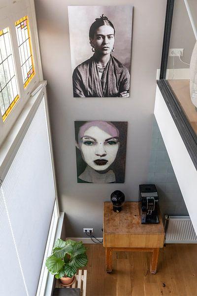 Klantfoto: Portret van Frida Kahlo, 1932 (gezien bij vtwonen) van Bridgeman Images