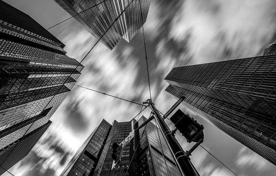 Wolkenkrabbers, zwart/wit van Reinier Snijders