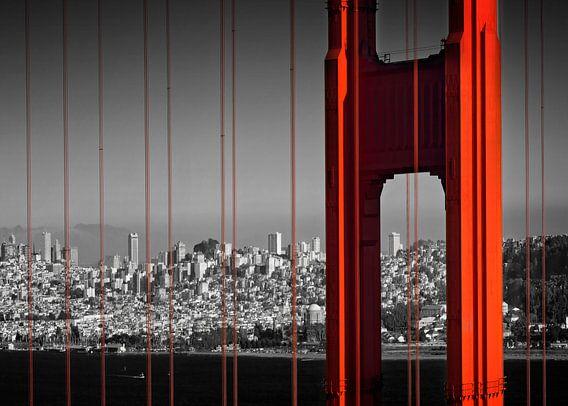 Golden Gate Bridge in Detail van Melanie Viola