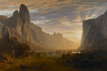 Blick das Yosemite-Valley hinab,  Albert Bierstadt