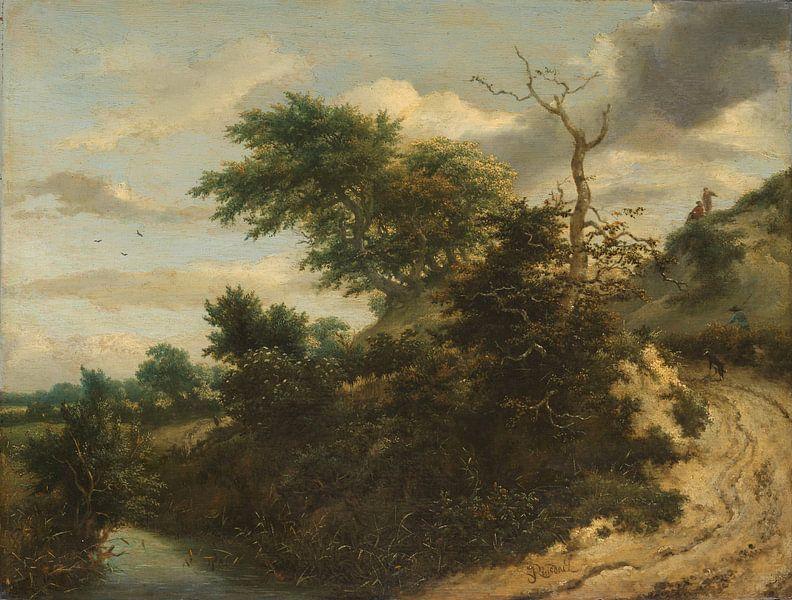 Sandige Straße in den Dünen, Jacob Isaacksz. van Ruisdael von Meesterlijcke Meesters