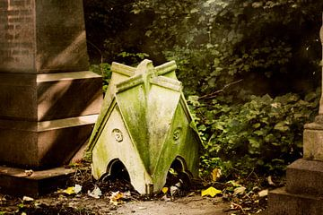 Kleines Haus im Herbstwald von Helga Novelli