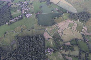 Brooklet in der Landschaft von Drenthe