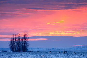Winterlandschaft bei Sonnenuntergang von Frank Peters