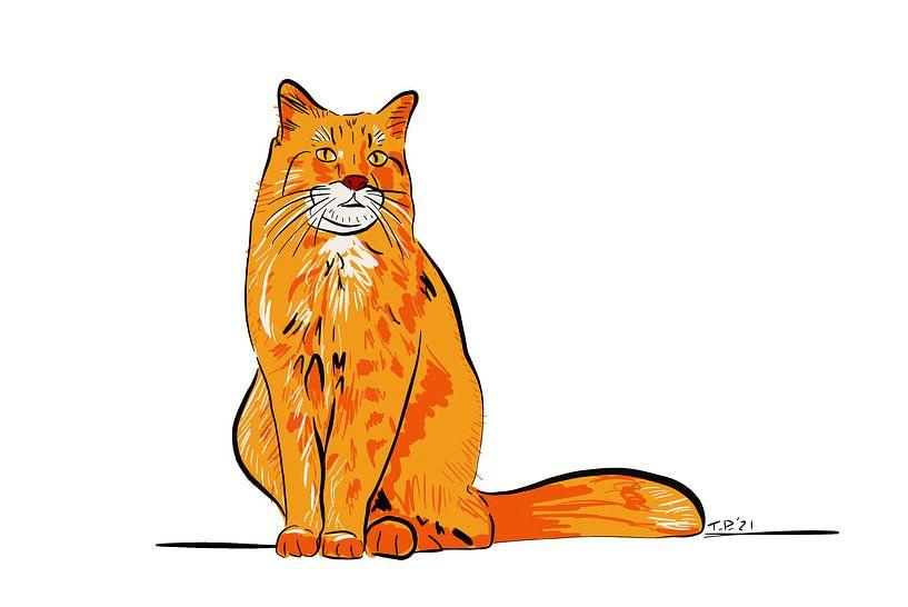 Rote Katze von Teun Poppelaars