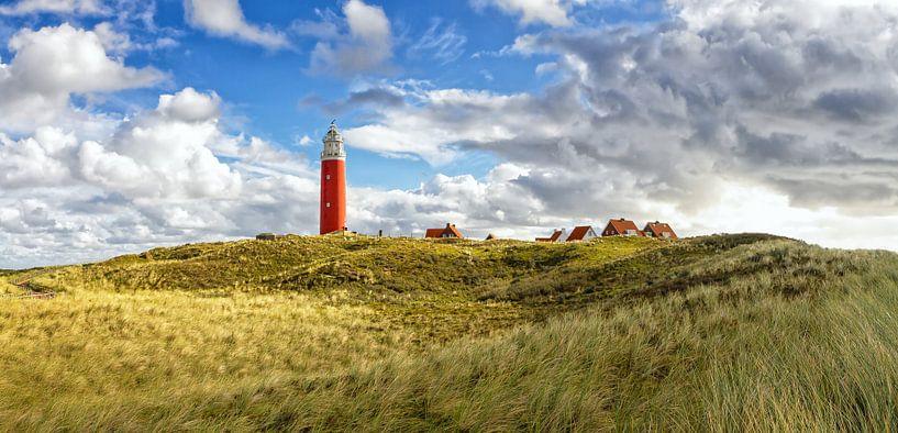 Panorama Vuurtoren van Texel / Panoramic Texel Lighthouse van Justin Sinner Pictures ( Fotograaf op Texel)