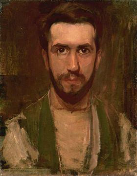 Piet Mondrian, Selbstbildnis, um 1900 von Atelier Liesjes