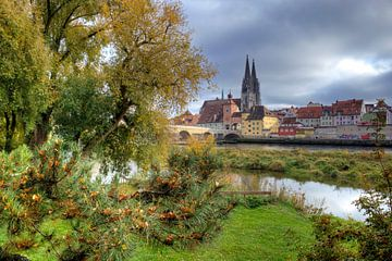 Herfststemming in Regensburg van Roith Fotografie