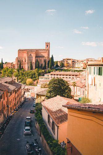 Stadsbeeld Siena, Italië