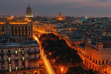 Sonnenuntergang Havanna, Kuba von Henk Meijer Photography
