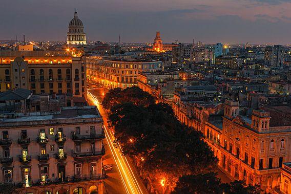 Zonsondergang Havana, Cuba