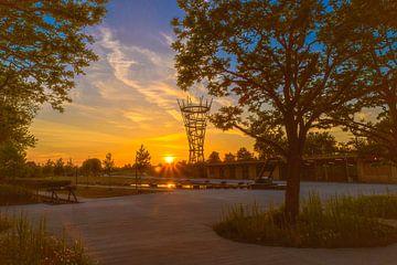Zonsondergang  Spoorpark Tilburg