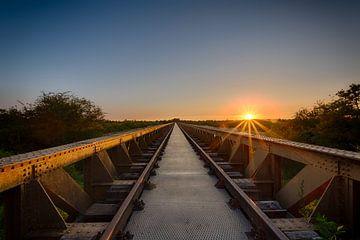 Sonnenuntergang @ Nussbrunnen-Brücke von Max ter Burg Fotografie