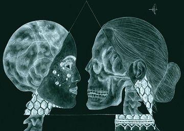 Skull switch (Zwart) van Artbyrewyomar
