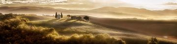 Weite Landschaft der Toskana in Italien von Fine Art Fotografie