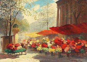 Blumenmarkt von Antonije Lazovic