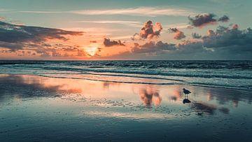 Sonnenuntergang am Strand von Norderney von Steffen Peters