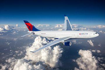 Delta Air Lines Airbus A330-200 in Reiseflughöhe von Jeffrey Schaefer