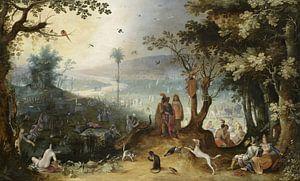 Aeneas trifft ihren Vater auf den Champs Elysées, Sebastiaen Vrancx