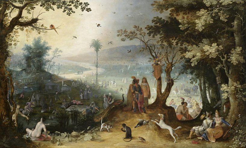 Aeneas trifft ihren Vater auf den Champs Elysées, Sebastiaen Vrancx von Meesterlijcke Meesters