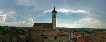 Panorama von Vinci, Toskana von Jeroen van Deel