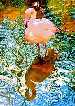 Rosa Flamingo von Leopold Brix
