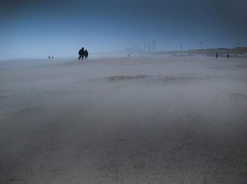 Strand in storm von Rinke Velds
