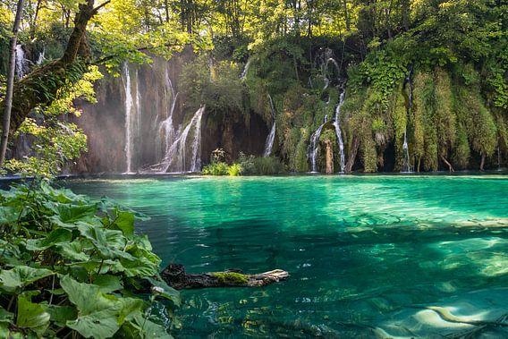 Plitvice watervallen, Kroatië van Menno van der Haven