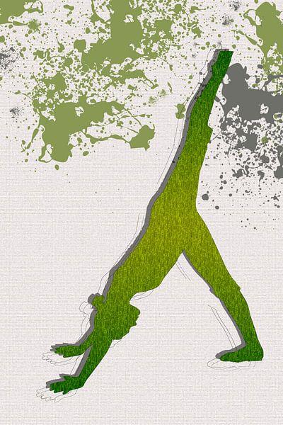 Yoga, abwärts gerichtete Hundehaltung von Adriana Zoon