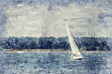 Zeilen op het Hollands Diep van Art by Jeronimo