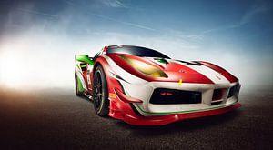 Ferrari 488 Challenge Race Car van Thomas Boudewijn