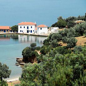 Mooie Griekse baai III van Miranda van Hulst