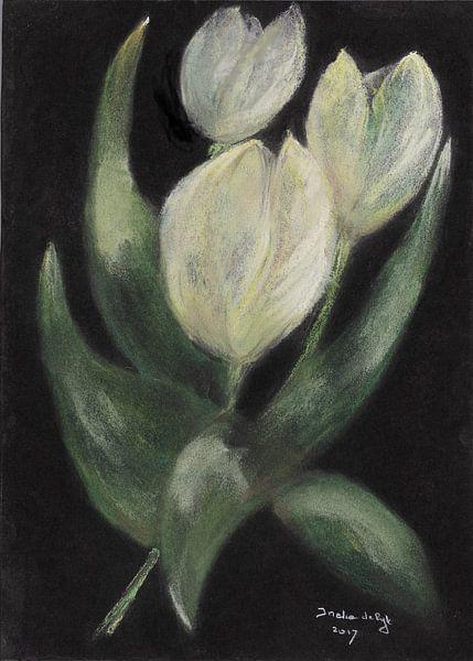 Weiße Tulpen. von Ineke de Rijk
