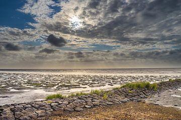 Prachtige wolkenlucht in het Waddengebied van Goffe Jensma