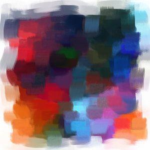 Abstrakt in Blau- und Rottönen