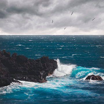 Blauwe Atlantische Oceaan van Dirk Wüstenhagen
