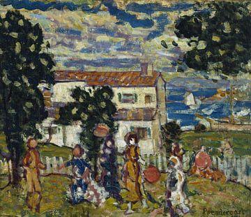 Maurice Prendergast-New England Village