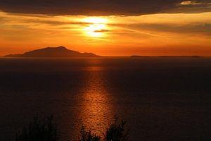 Zonsondergang Ischia Italië van