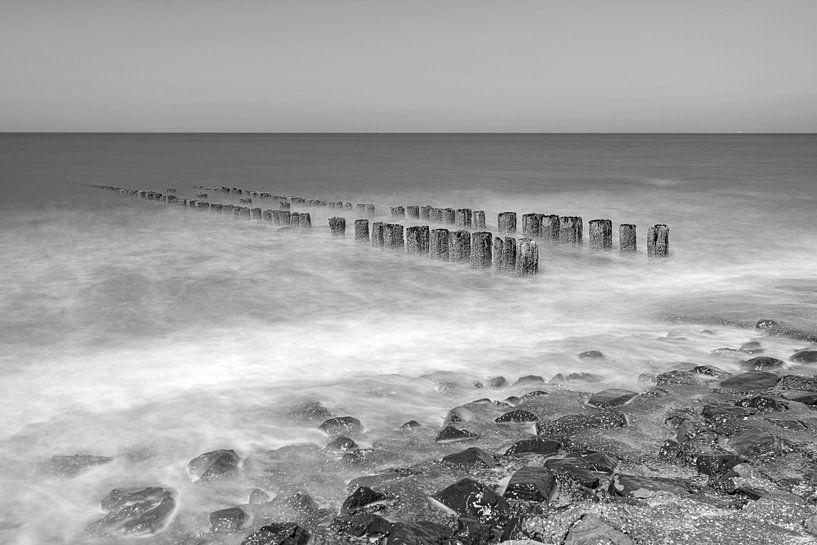 Noordzeekust in zwart-wit van Teuni's Dreams of Reality