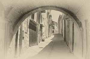 Straatje in de stad Piana degli Albanesi  op Sicilie.