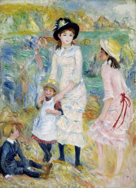 August Renoir. Kinderen aan de kust van 1000 Schilderijen