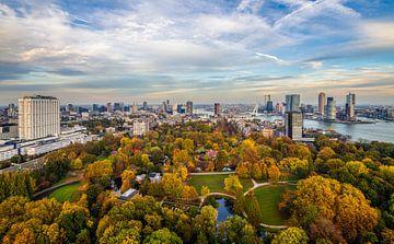Le parc de l'Euromast à Rotterdam aux couleurs de l'automne sur
