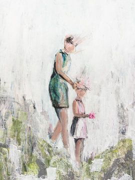 Moeder en dochter van Henriëtte Mosselman