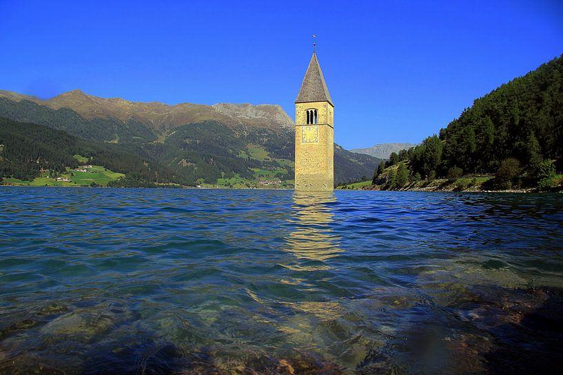 Kirchturm im Reschensee von Patrick Lohmüller